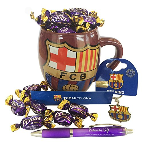 Barcelona FC Hamper with Mug, Key ring and Cadbury Eclairs (Barcelona Supporter)