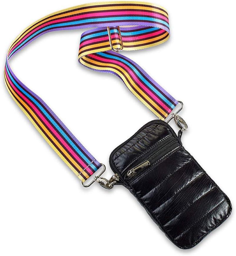 black yellow av stripe Top Trenz Puffer Cell Bag /& pocketbook