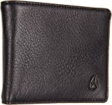Nixon Men's Escape Leather Wallet with Clip, All Black, One Size