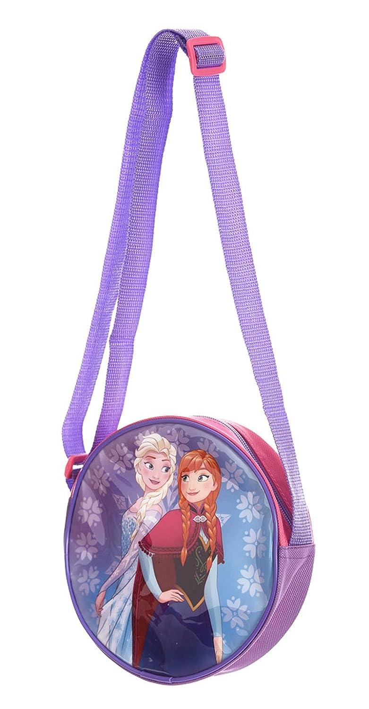 Petit sac rond /à bandouli/ère enfant fille La reine des neiges Violet//rose 17cm