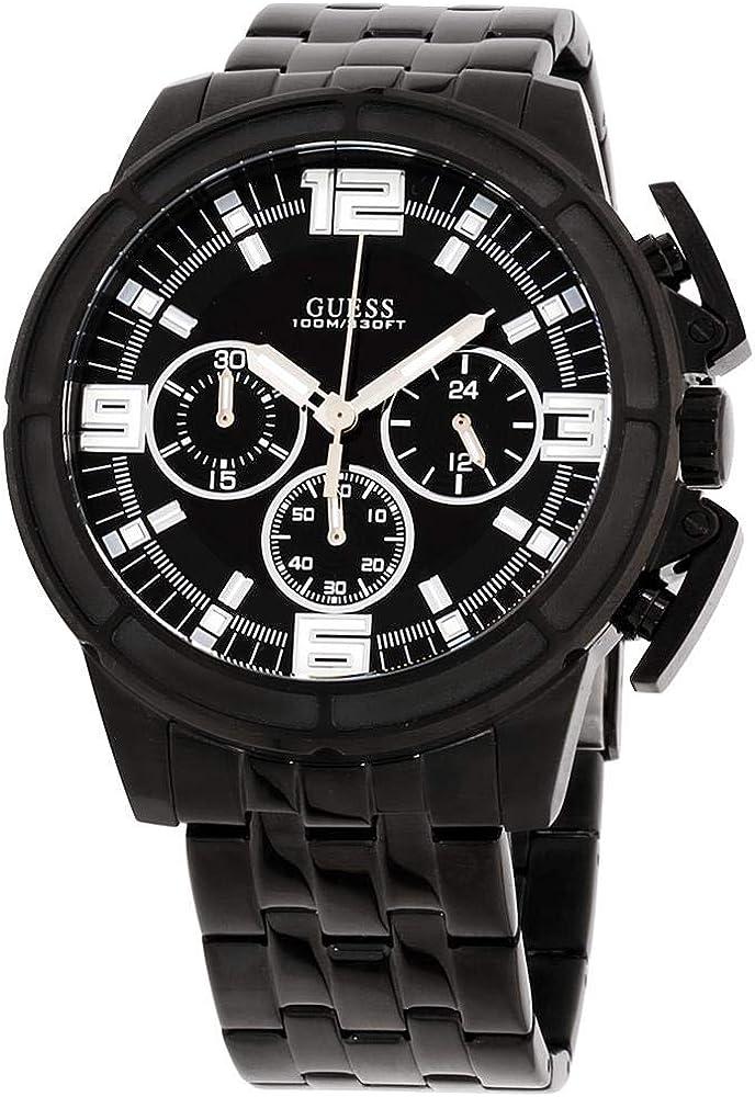 GUESS Reloj de Hombre Cuarzo 46mm Correa de Acero Color Negro Caja de W1114G1