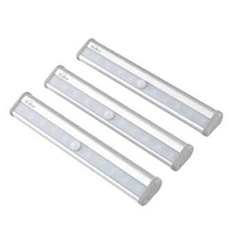 kealive motion sensor light battery operated with 10 led lights wireless portable aluminum magnetic strip