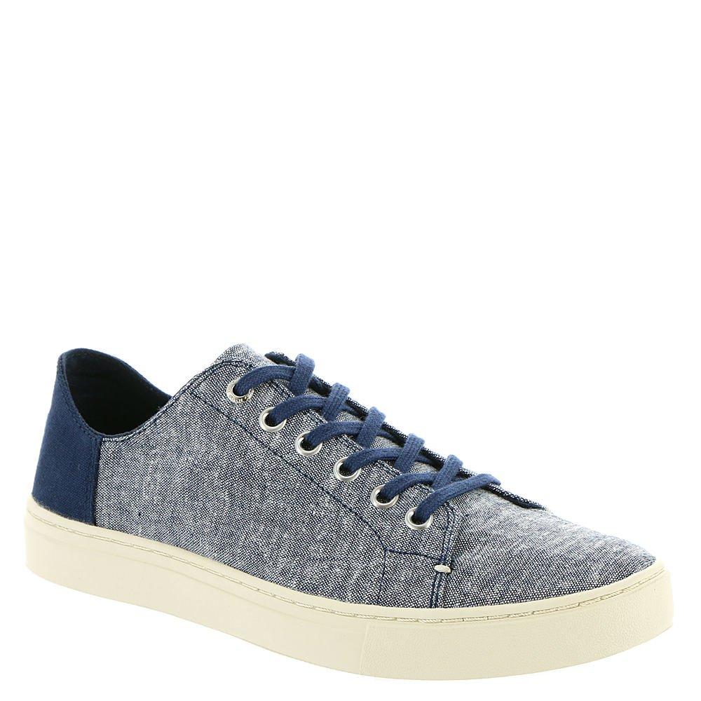 TOMS Women's Lenox Sneaker Navy Slub Chambray Oxford