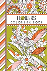 """Flowers: 4"""" x 6"""" Pocket Coloring Book Featuring 75 Floral Designs For Coloring (Jenean Morrison Adult Coloring Books) Paperback"""