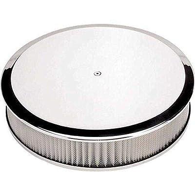 "Air Cleaner, 14"" Diameter Round Plain Polished: Automotive"