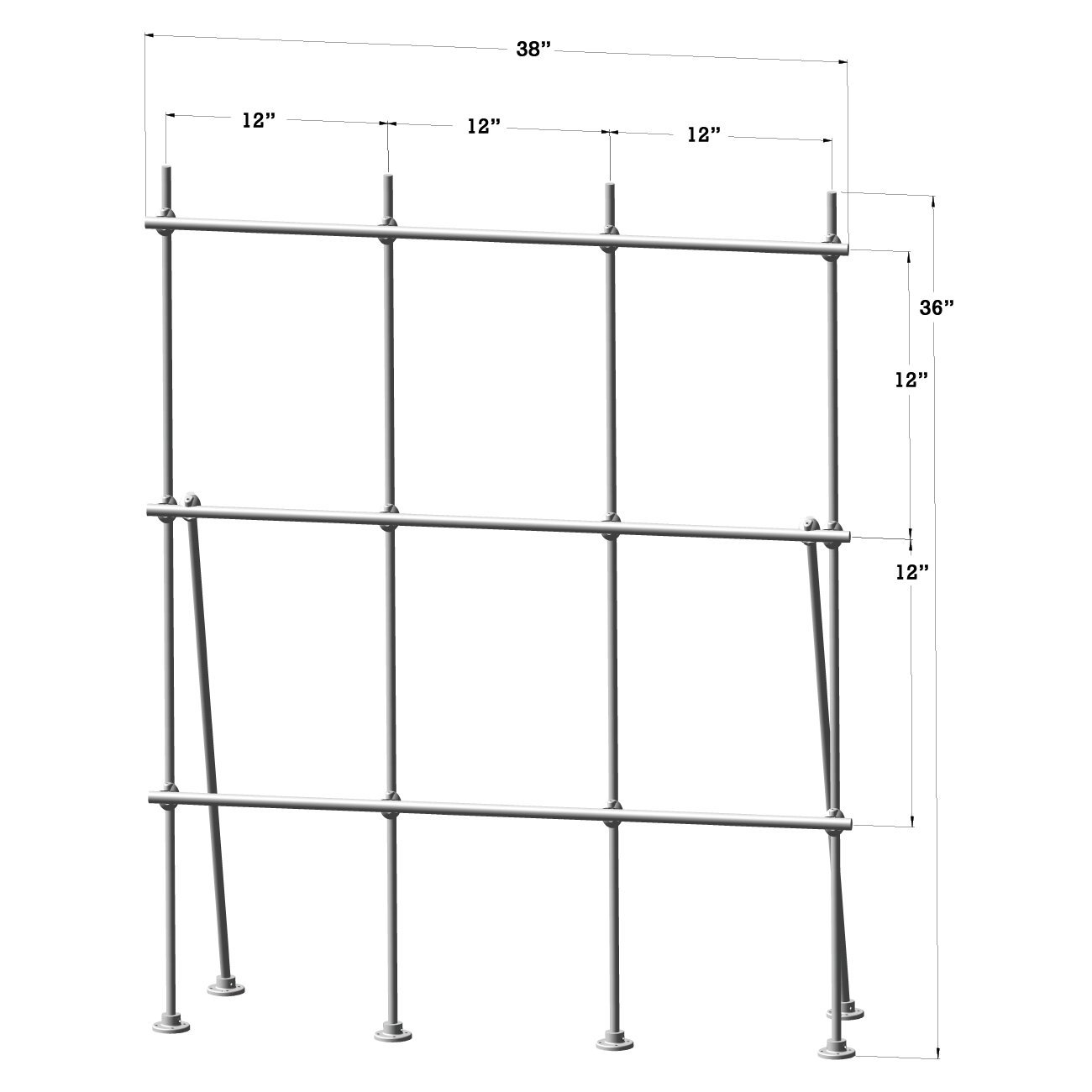 Lee Engineering 4 foot Aluminum Table Top Mount Lab-Frame Kit for Fume Hoods