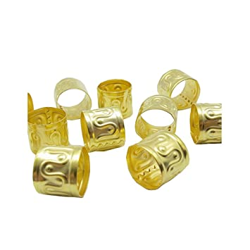 01a690817a8 Dreadz Adjustable Large Gold Dreadlock/Braid Hair Cuff Bead (Hole 11mm) (x  2 cuffs): Amazon.co.uk: Beauty