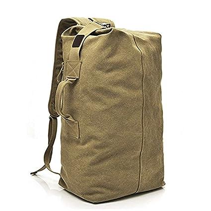 1dd556d2208 Men Vintage Canvas Rucksack bag Travel Large Multi-Functional outdoor  backpack
