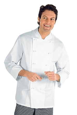 Isacco - Veste Chef Cuisinier Livorno Blanc 100% Coton  Amazon.fr ... 65b8e48ee112