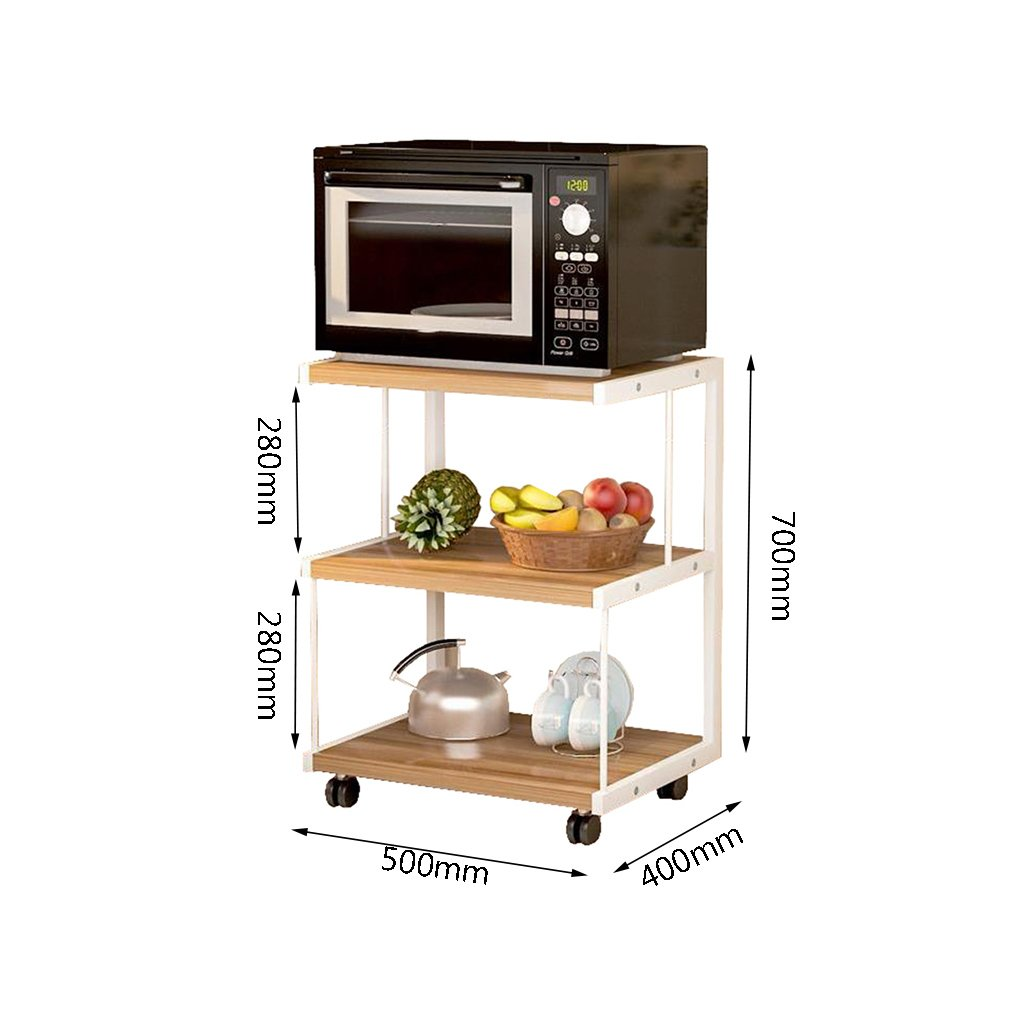 Mueble de horno de cocina de microondas de 3 capas móvil Estante ...