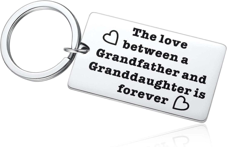 Granddaughter Keychain SMALL Gold Granddaughter Keychain Granddaughter Keyring Heart Keychain Grandchild Gift Charm Keychain Monogram Gift