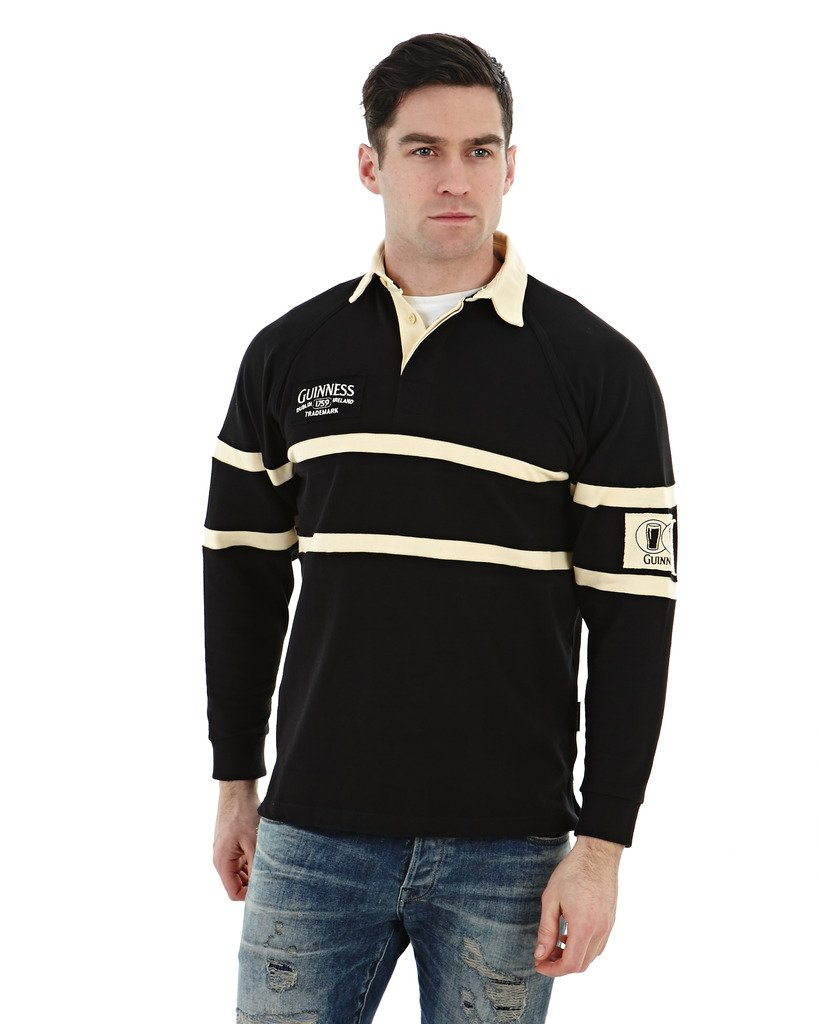 Guinness Black and Cream Traditional Rugby G2002-L