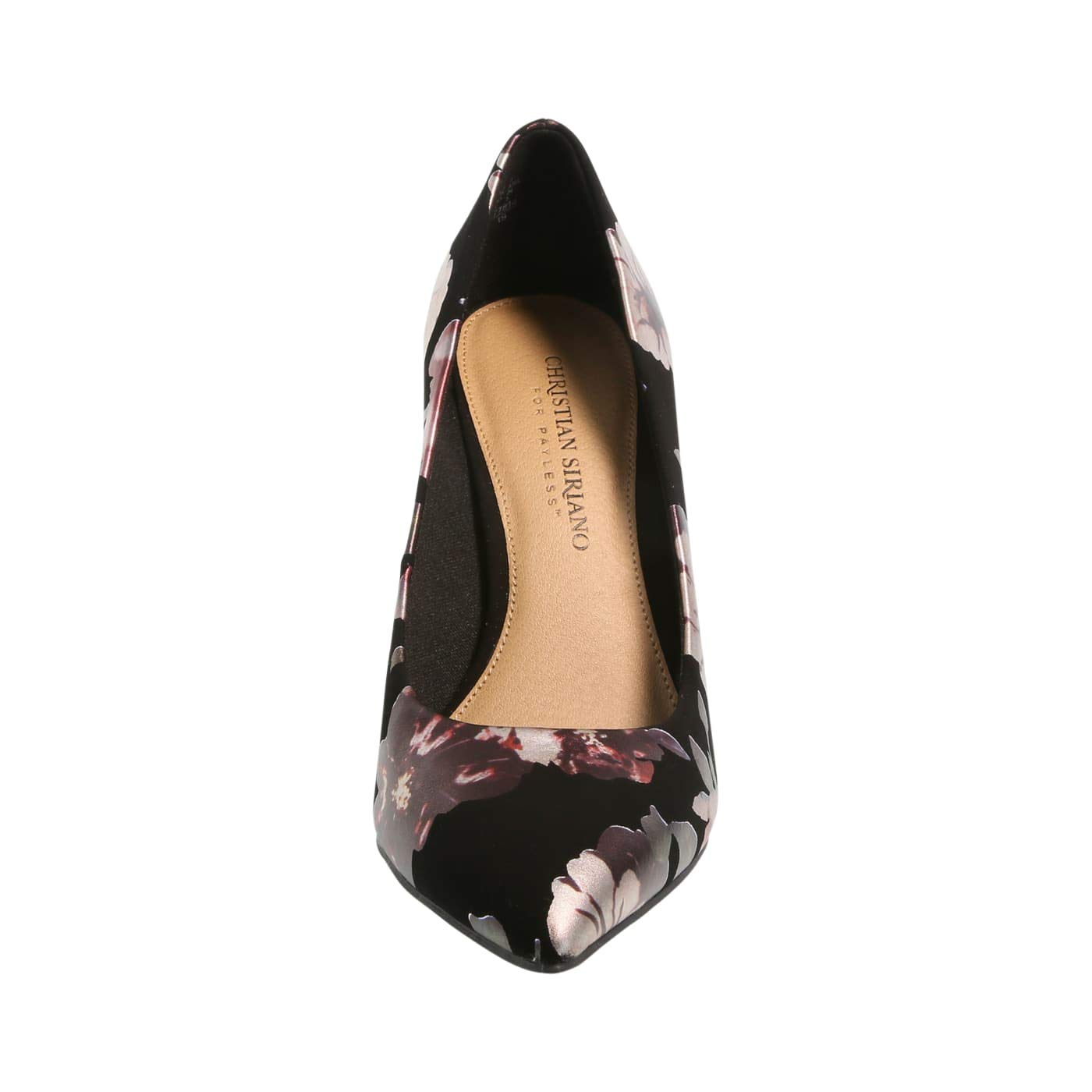13c542148d Amazon.com | Christian Siriano for Payless Shimmer Black Floral Women's  Habit Pointed Pump 5 Wide | Pumps