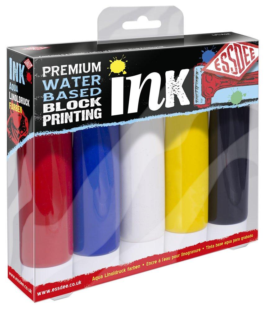 Essdee Inchiostro di qualità premium per xilografia, confezione da 5colori primari LPI/A5R