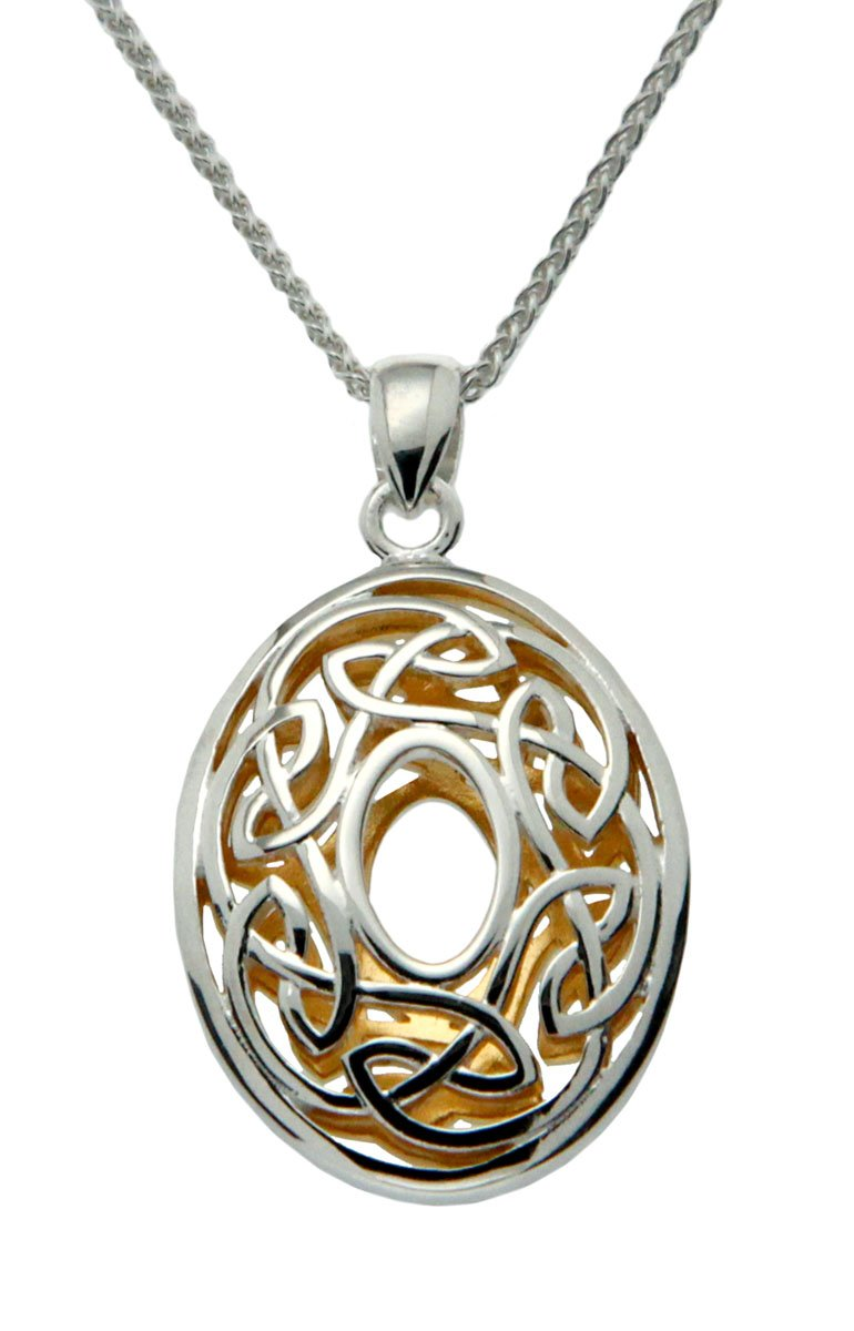 Keith Jack Window to the Soul Pendant Necklace in Sterling Silver 22KY Gilded on Inside PPX3630-18