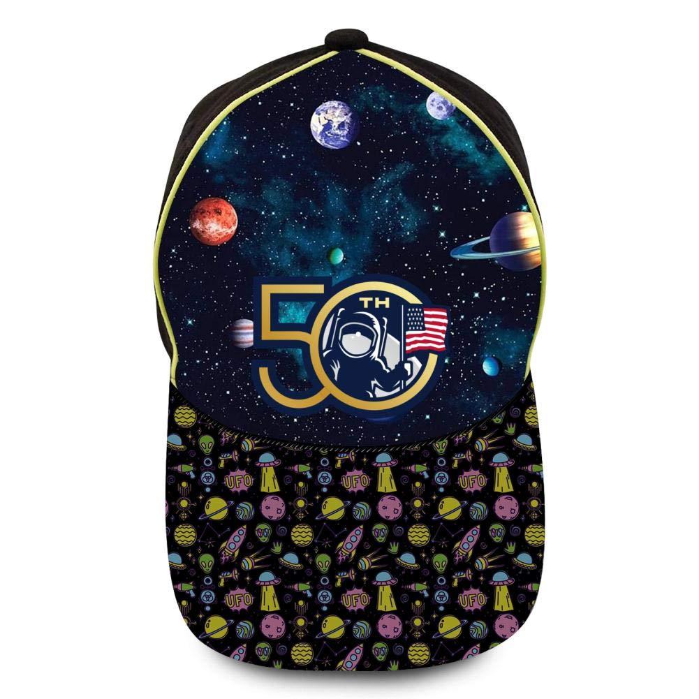 GIGIBO Apollo 11 Moon 50th Anniversary NASA Kids//Children Hip Hop Baseball Caps Adjustable Printed Hat