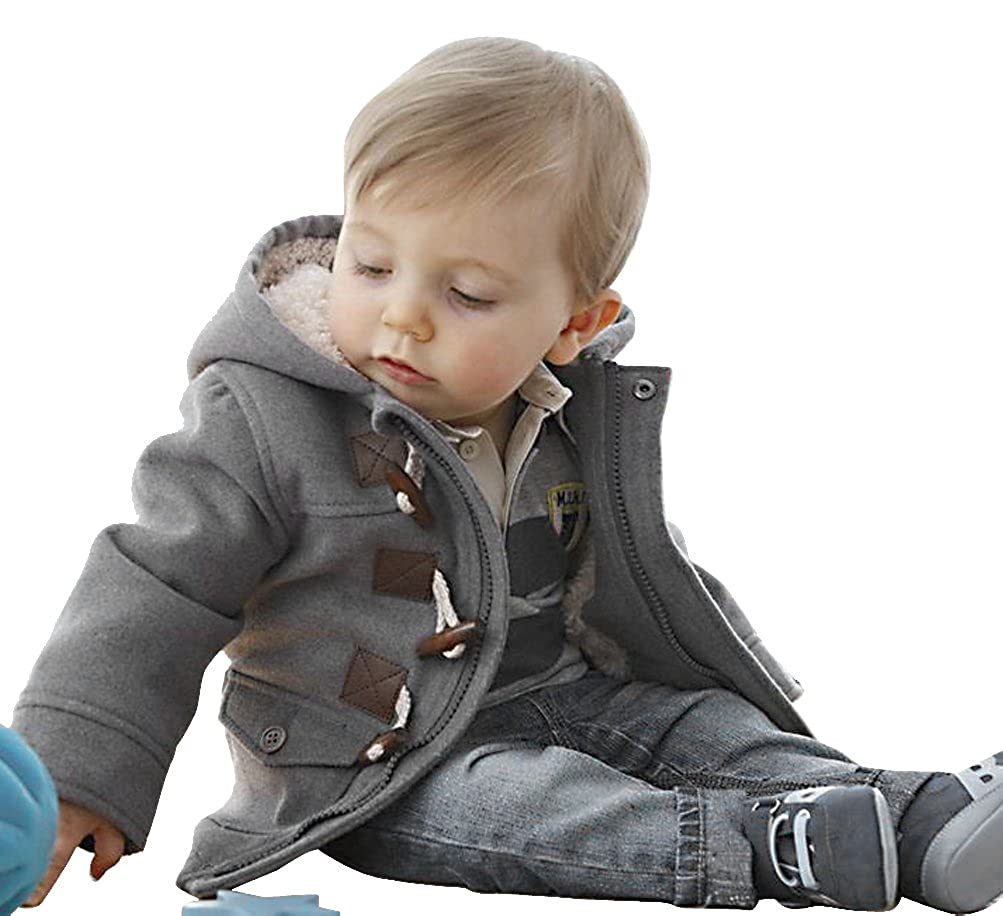 185b17e96 Amazon.com  Baby Boys Toddlers Cotton Blend Hooded Duffle Coat ...