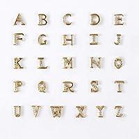 HERIS 26pcs 3D Nail Art Decoration Gold Alphabet Letters DIY Phone Case Tips Tools