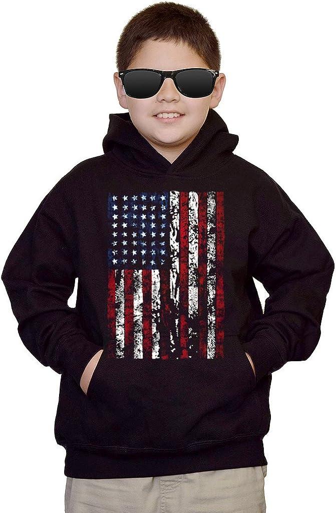 Youth United States Flag Black kids Sweatshirt Hoodie