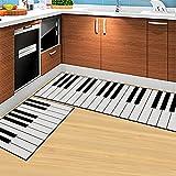 Jackie 2-Piece Sets Non-slip Piano Keys Design