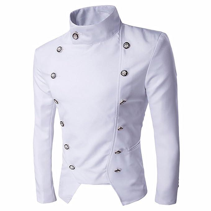 Z Uomini Stile Signori Giacca Colletto alla Coreana Cappotto Corto Giacca  Sportiva  Amazon.it  Abbigliamento 71cc33b5d1bd