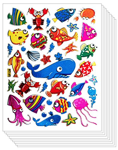 Diy Finding Nemo Costume (Fish Dolphin Whale Shape Stickers for Scrapbook (10 sheets))