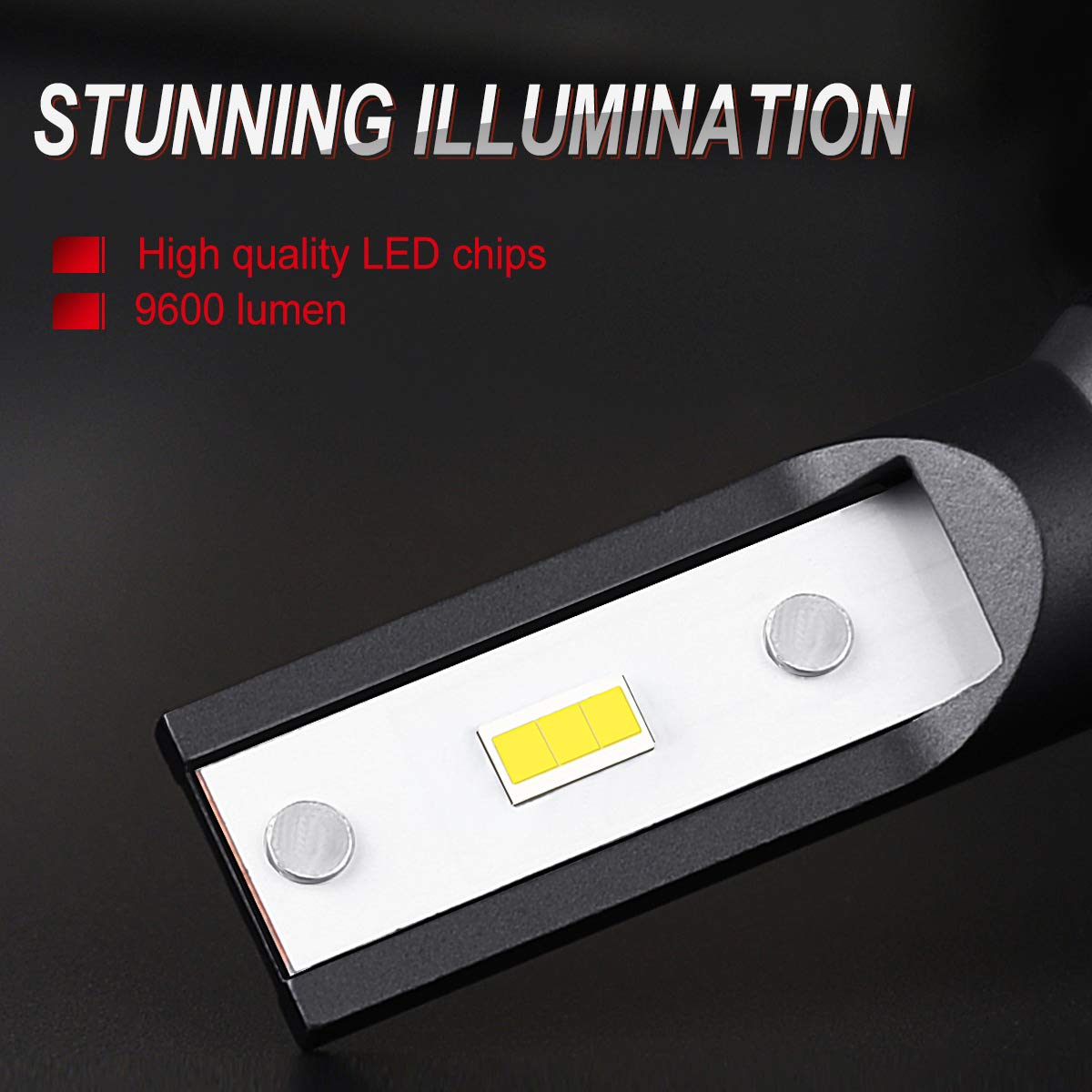 2 Pack 9007//HB5 LED Headlight Bulbs Dual High//Low Beam Bulbs 6000 Lumen 6000K Xenon White DOT Approved SEALIGHT X1 Series