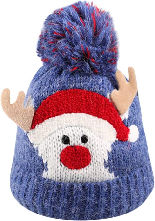 Baby Kids Beanie For Boys Girl Cap Cotton Knitted Ball Winter Warm Christmas Hat
