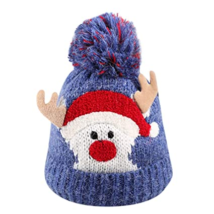 Amazon.com  Infant Cute Cartoon Christmas Winter Warm Hat 55ff3c3789aa