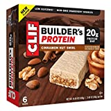 Clif Builder's Protein Bar Cinnamon Nut Swirl 14.4oz( 2.4oz x 6 bars), pack of 1