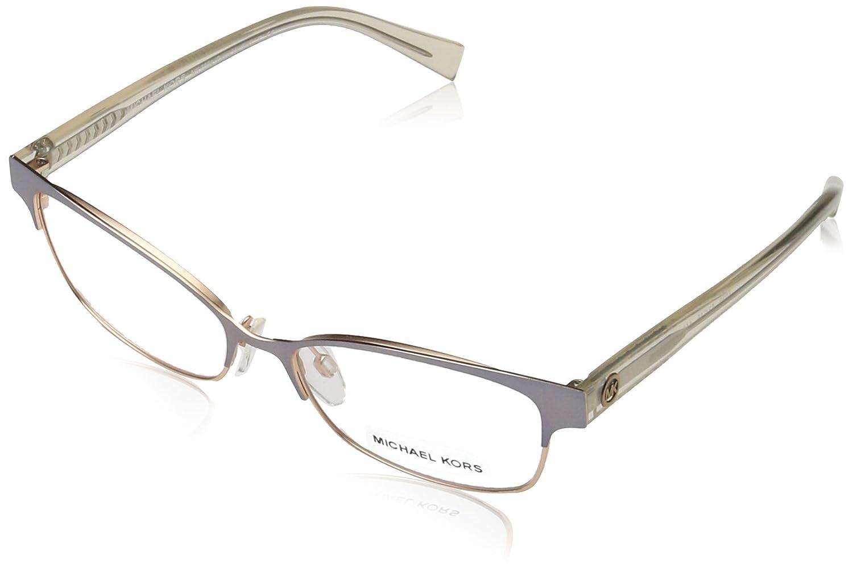 7376b2d55cb Michael Kors Palos Verdes Glasses in Satin Light Gunmetal   Rose Gold  MK7004 1030 53