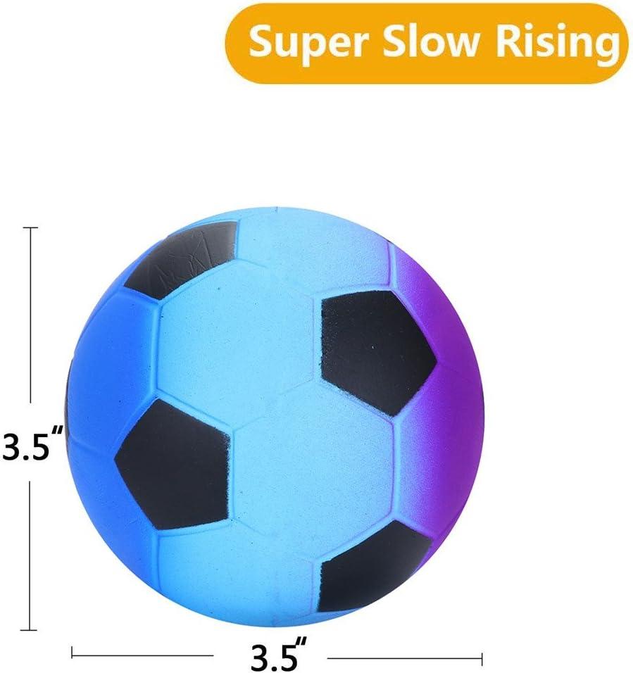 Ma87 Squishies - Pelota de fútbol para galaxia, suave, crema ...