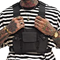 Croogo Universal Hands Free Radio Chest Rig Vest Bag Harness Bag Rescue Bag Front Pack Pouch Hip hop Bag
