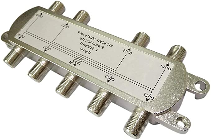 DDGE DMMS SP-08 - Divisor de señal de 8 vías para Antena de ...
