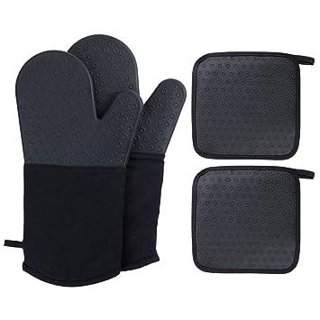 Amazon.com: Webake guantes manoplas para horno, de silicona ...