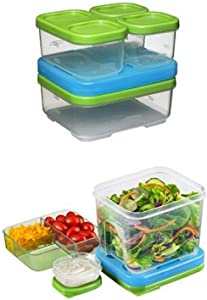 Rubbermaid LunchBlox Sandwich & Salad Food Storage Container Kits, 3-Pack