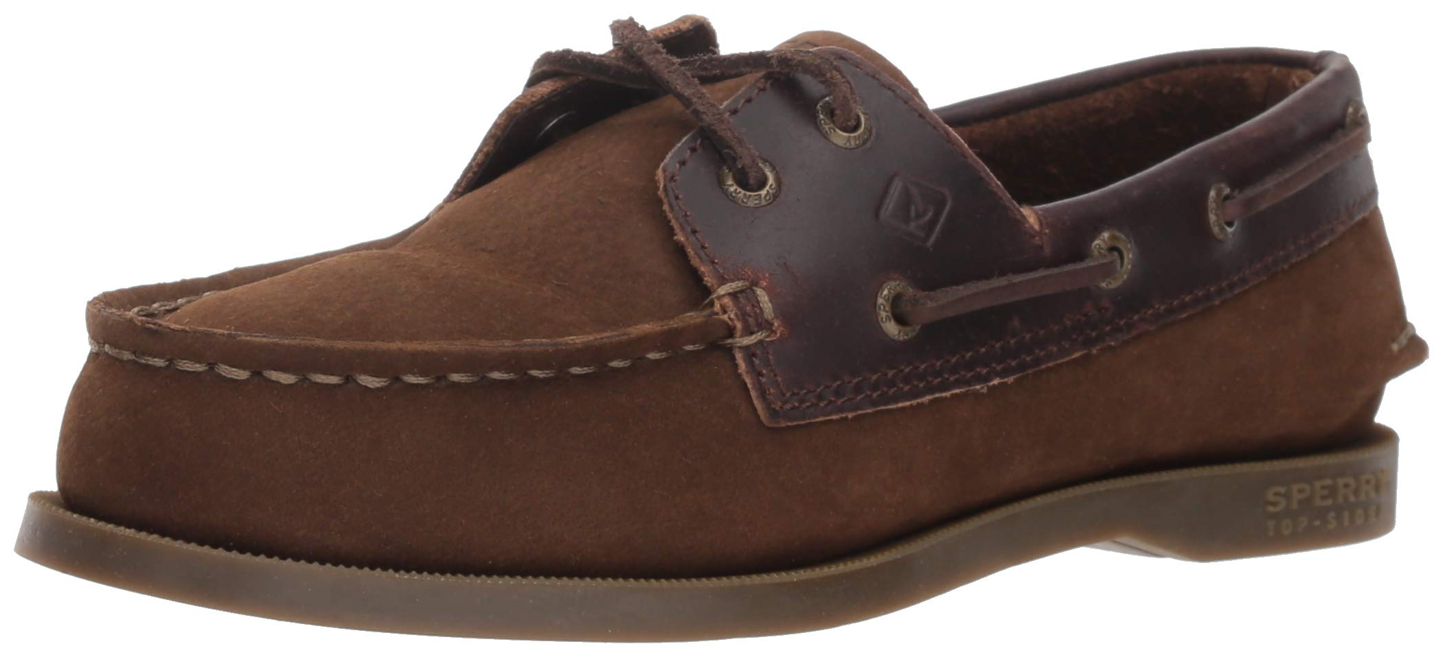 SPERRY Boys' Authentic Original Boat Shoe, Brown Buck, 4.5 Medium US Big Kid