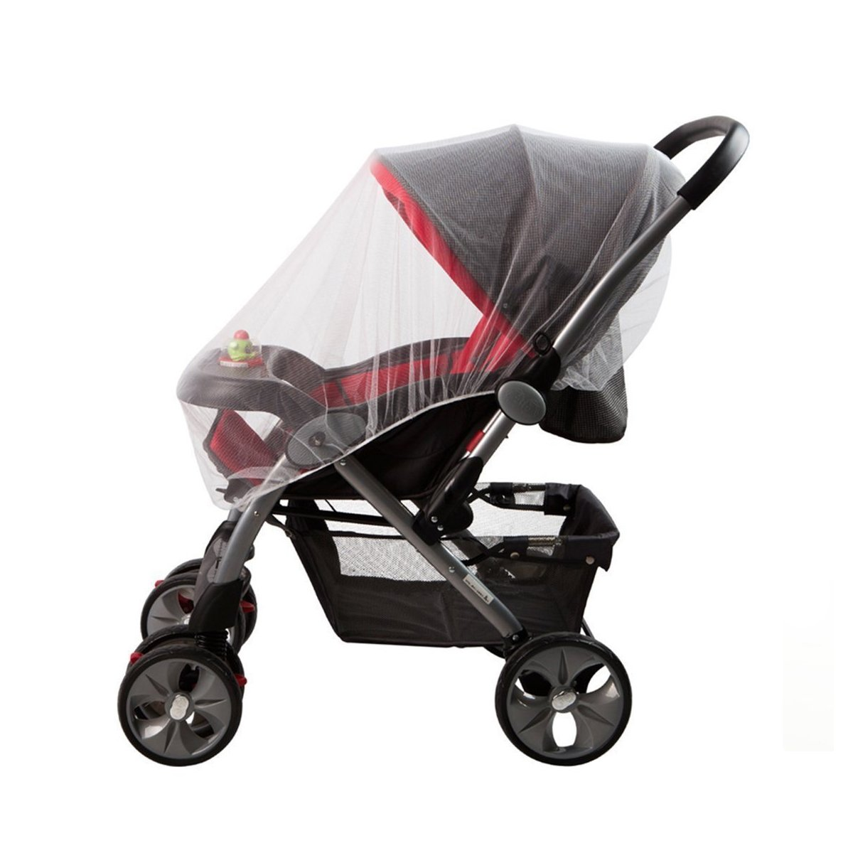 Baby Mosquito Net for Strollers, Carriers, Car Seats, Cradles. Fits Most Cribs, Made of White, Portable & Durable Baby Insect Netting Marrywindix
