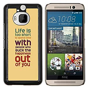 YiPhone /// Prima de resorte delgada de la cubierta del caso de Shell Armor - Vida Cita inspiradora Marrón Rojo trullo - HTC One M9Plus M9+ M9 Plus