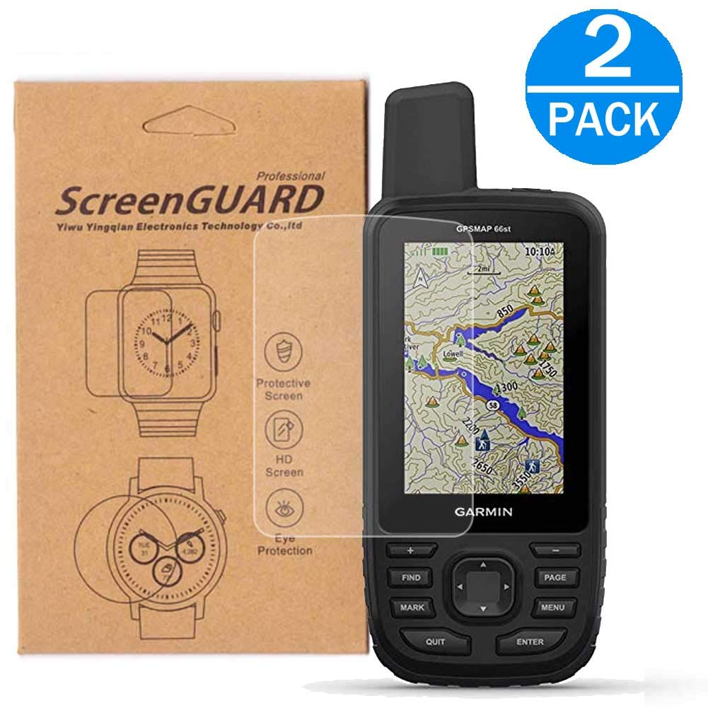 2-Pack for G-a-r-m-i-n GPSMAP 66st Screen Protector,Full Coverage HD Clear Anti-Bubble and Anti-Scratch GPSMAP 66// 66st