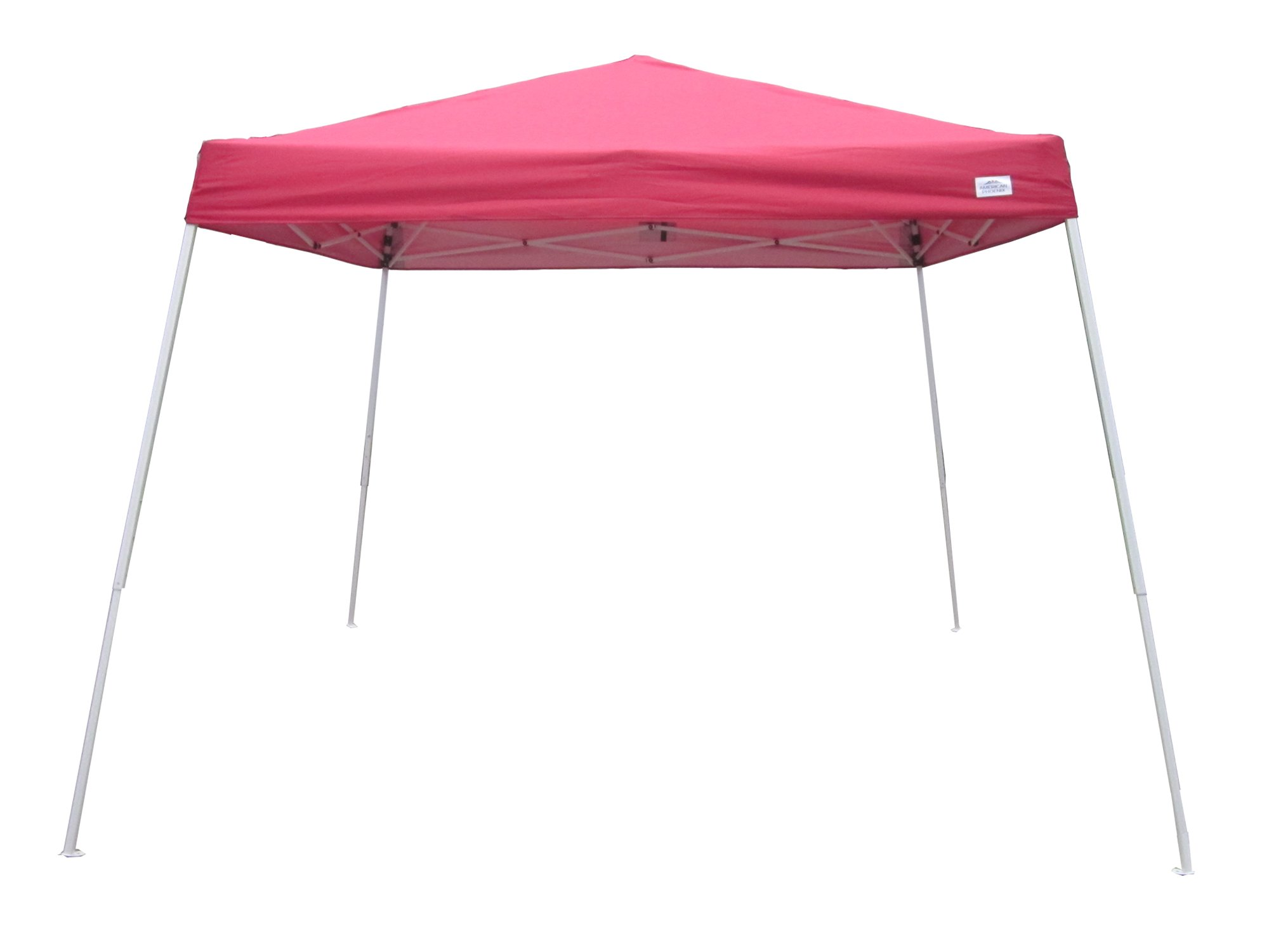 American Phoenix 5x5 Multi Color [Slant Leg][White Frame ] Light Weight Portable Event Canopy Tent. Shade Commercial Party Canopy tent Easy Pop Up (Red)