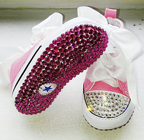 Amazon.com  Pink baby converse with swarovski crystals 315d53304