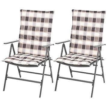 Tuduo sillas de Comedor 2 Unidades reclinables con Cojines ...