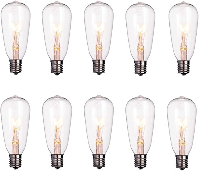 Goothy ST40 Edison Style Bulbs Replacement Screw Base Light BulbsPack of 10