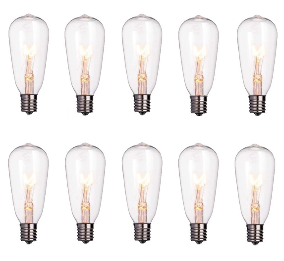 Goothy ST40 Edison Style Bulbs Replacement Screw Base Light Bulbs(Pack of 10) by Goothy