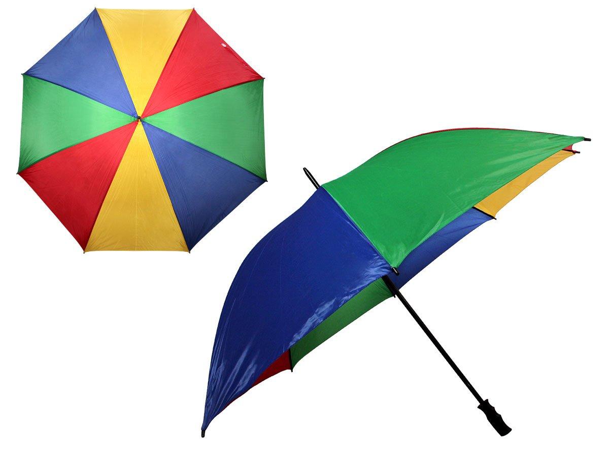 Parapluie multicolor multicouleur droit grand XXL très robuste diametre 130 cm pour toute la famille Offre un système windproof permettant de résister au grand vent tendance idée cadeau homme femme Alsino