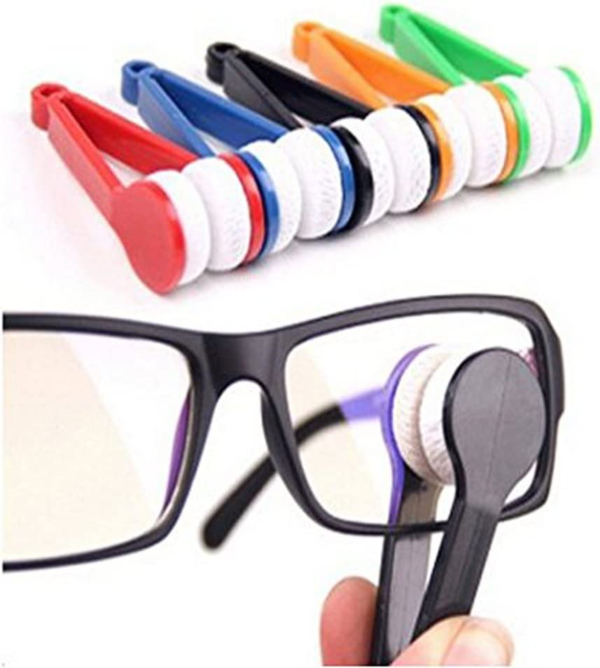 Sun Glasses Eyeglass Microfiber Mini Eyeglasses Cleaner Spectacles Cleaner Soft Brush Cleaning Tool 5 Pieces (Random Color)