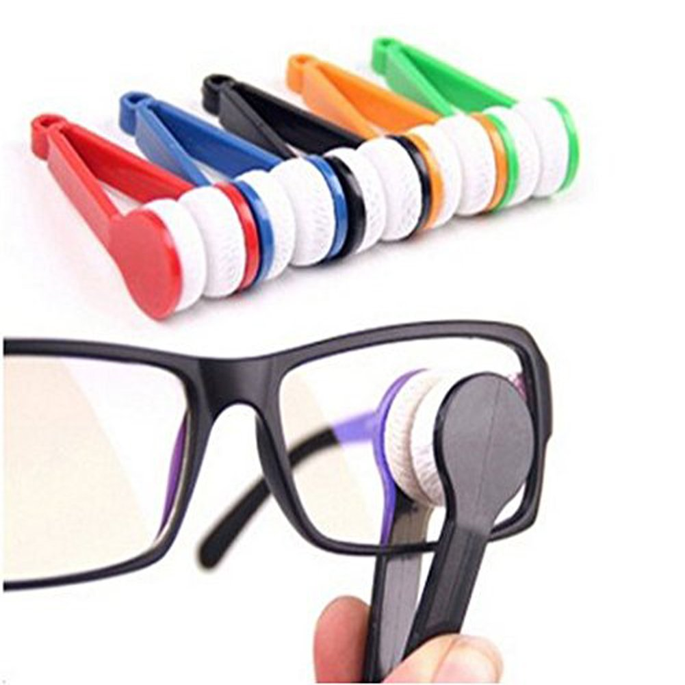Sun Glasses Eyeglass Microfiber Mini Eyeglasses Cleaner Spectacles Cleaner Soft Brush Cleaning Tool 5 Pieces (Random Color) erioctry 1