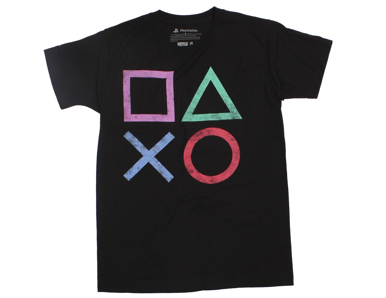 Playstation Vintage Icon Adult T Shirt 1300
