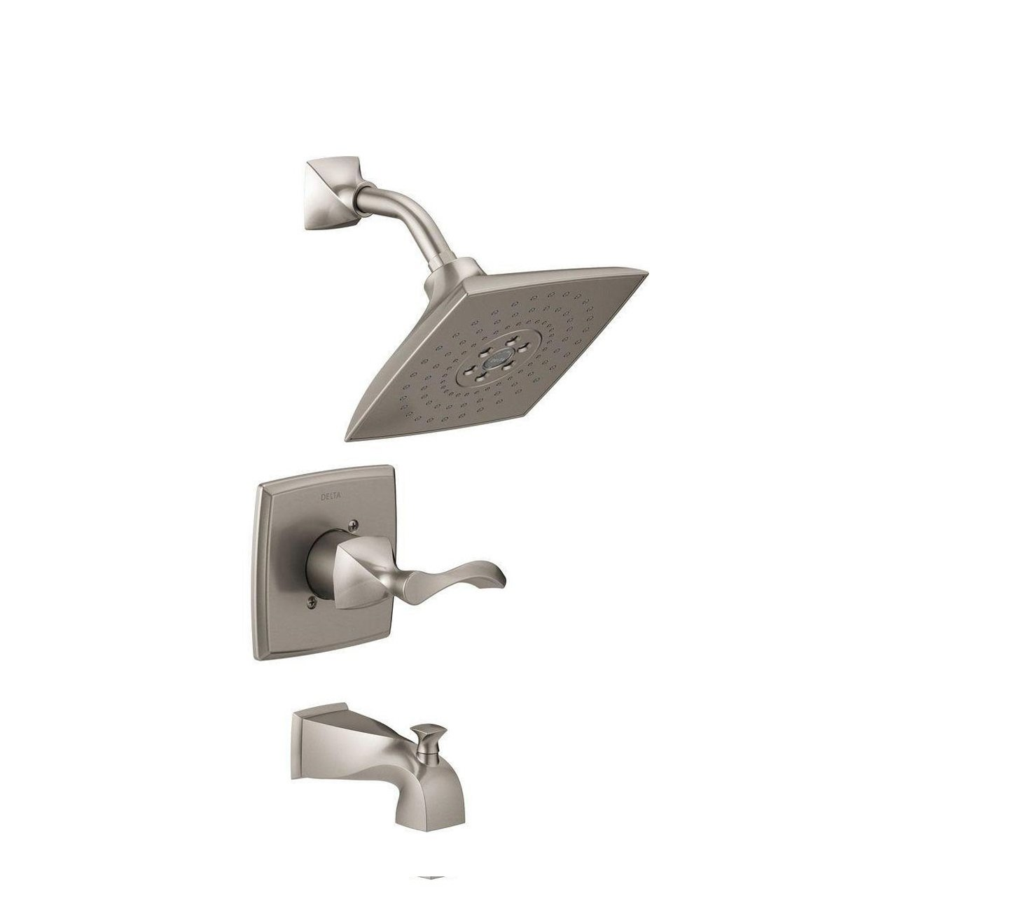 Delta Everly H2okinetic 3 Spray Tub And Shower Faucet Brushed Nickel 144741 Sp